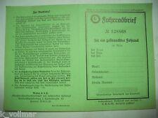 Fahrradbrief 30iger Jahre Vorkrieg Altdeutsche Schrift Originale der Zeit  Antik