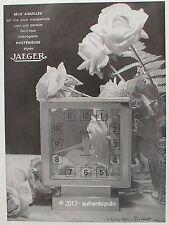 PUBLICITE JAEGER PENDULE ELECTRIQUE SIGNE LAURE ALBIN GUILLOT DE 1934 FRENCH AD