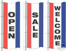 Open/Sale/Welcome 3ftx8ft Vertical Banners Flags Signs - Choose One
