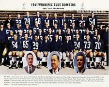 CFL 1961 Grey Cup Champion Winnipeg Blue Bombers Team Photo Color  8 X 10 Photo