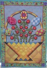 "Jim Shore Easter Basket Outdoor Garden Flag by Evergreen 12"" x 18"", #4892"