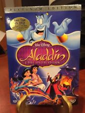 Aladdin (DVD,1992, Original 2-Disc Set Special Ed) RARE w/Sleeve & Stamp/MfgSeal