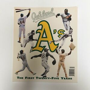 1992 Oakland A's Yearbook Baseball 25 Years AthleticsJose Canseco Mark McGwire