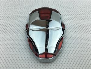 2 X IRON MAN Avengers Bumper Stickers Car Auto Metal Decal Emblem