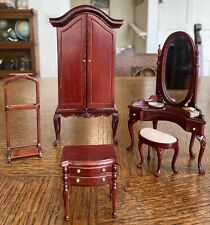 VINTAGE BESPAQ  CHERRY DOLLHOUSE Bedroom FURNITURES  MINIATURE