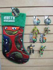 TEENAGE MUTANT NINJA TURTLES Christmas Stocking & 4 Ornaments - New with Tags