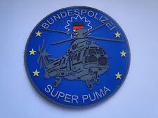PVC- Aufnäher Helicopter Bundespolizei  Super Puma   mit  Klett . ca 10 cm