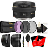 Canon EF 50mm f/1.4 USM Lens + 58mm Accessory Kit for Canon 750D 760D