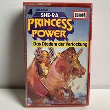 """SHE-RA """"PRINCESS OF POWER"""" GERMAN CASETTE #4 DAS DIADEM DER VERLOCKUNG"""
