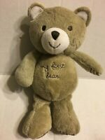 "Carters My First Bear Brown  Rattles 8"" Plush Stuffed Animal"