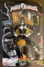 Sabans Mighty Morphin Power Rangers Black Metallic Ranger Legacy Collection NIB