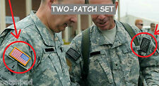 US ARMY ACU Uniform vel©®Ø 2-Patch: SSI: Reversed US Flag + Don't Tread on Me