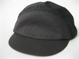 Salomon Air Logo 5 Panel Cap Black Hat Mesh Running Travel Soft Brim