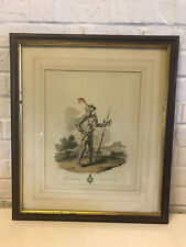 Antique 1812 L.A. Atkinson Etching Print Robert Chaumberleyn Esquire to the King