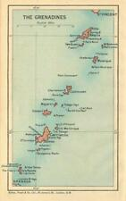 THE GRENADINES. Bequia Carriacou Union Mustique Canouan. West Indies 1935 map