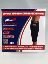Copper Relax Calf Sleeve XL Compression Health Muscle Recovery New In Box Gift