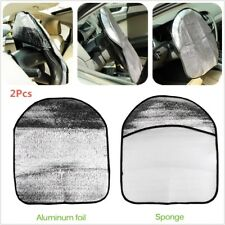 2Pcs Car Steering Wheel Sun Shade Cover