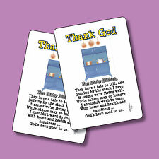 """""""Thank God For Dirty Dishes"""" - Poem - 2 Verse Cards - SKU# 735"""