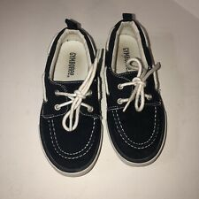 Gymboree Boy's Navy Blue Boat Deck Shoes Sneakers Boy Youth Size 12