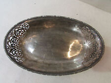 ancienne corbeille metal argenté ajouré