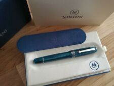 MOLTENI PEN MODELO 54 TURQUOISE LIMITED EDITION FOUNTAIN PEN 18K NIB
