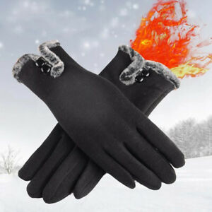Ladies Gloves Fleece Winter Thermal Premium Quality Touch Screen Glove