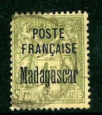 Madagascar 1896 French Colony  1 Franc Scott # 21 VFU I28