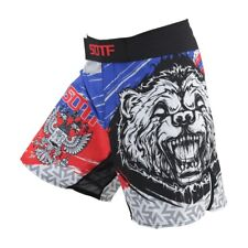 Russia Bear Mma Fight Shorts Boxing Grappling Muay Thai Cage Gym Short Trunks UK