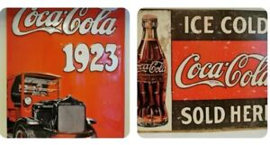 2 Coca Cola Tinplate Signs