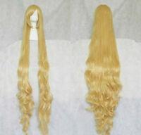 "Deluxe Super Long Blonde Showgirl Wig 38/"" Rapunzel Mermaid"