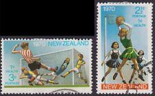 NEW ZEALAND 1970 Soccer/Basketball-HEALTH Sc#B80-81 2v set USED @S488
