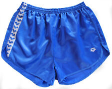 "NEW 40"" Mens Royal Blue ARENA Nylon Satin Shiny Wet Look IBIZA Beach Shorts 120"
