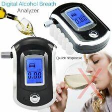 Police Lcd Digital Breath Alcohol Tester Personal Breathalyzer Detector Meter Us