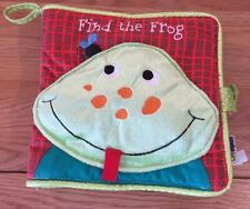 Find The Frog soft fabric cloth Baby Book by Manhattan Toy Co.