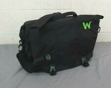 "Timbuk2 'W' Black Messenger Bag w/Padded Laptop Slot 7x13x16.5"" EXCELLENT LOOK"