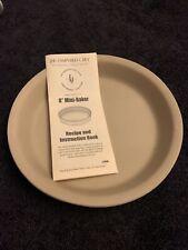 "Pampered Chef Stoneware deep dish round mini baker 8"" pie/pizza New No Box #1470"