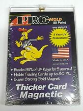 Pro-Mold Magnetic One-Touch Trading Card Holder 80pt Size Thicker Jerseys w/ UV