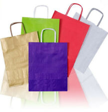 More details for coloured party, gift, clothes, kraft twisted paper handle carrier bags