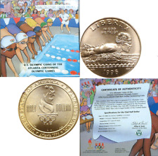 1996-S 50C Young Collector's Edition Olympic Swimming Clad Half Dollar OGP