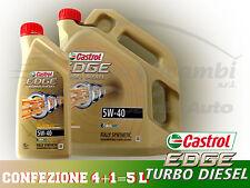 OLIO MOTORE CASTROL EDGE TURBO DIESEL 5W-40 CONFEZIONE 5 litri
