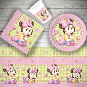 Baby Minnie Mouse Birthday Party Tableware, Decorations, Balloons