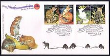 2002 Malaysia Tame & Wild Animals, 4v Stamps on FDC