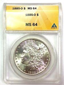 1885-O Morgan Silver Dollar - ANACS MS64