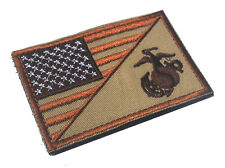 AMERICAN USA FLAG MARINE CORPS USMC DESERT 3D USA ARMY U.S. MORALE HOOK PATCH *1