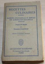 1949 - RECETTES Culinaires par G.&C.Bungé - 1949