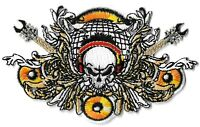 Skull, Guitars & Speaker Patch [Embroidered] Music Emblem Symbol Badge Insignia