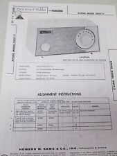 Vintage Sams Photofact Folder Radio Parts Manual Atkins 12N27-11 Am Receiver