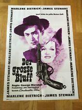 Der große Bluff (Kinoplakat '64) - Marlene Dietrich / James Stewart