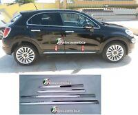 modanature Acciaio Cromo Minigonne FIAT 500X 4 pezzi cromati specifici stampati-