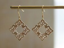 Gold plated Minimalist Filigree Cut out Geometric earrings Jewelry gift for her